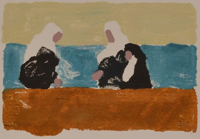 Dione Verulam, Pilgrims at Abraham's Pool, Urfa, 2014
