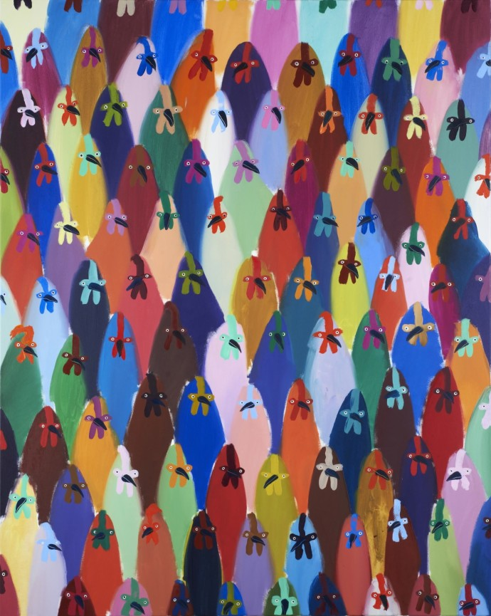 Holly Frean, Crowd of Chickens, 2014