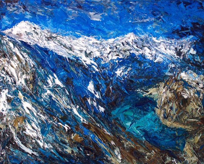 Holly Zandbergen, Douglas Glacier, Mt Sefton, 2017