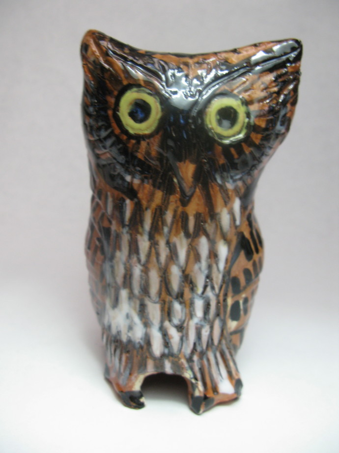Aaron Murray, Terracotta Owl 1, 2018