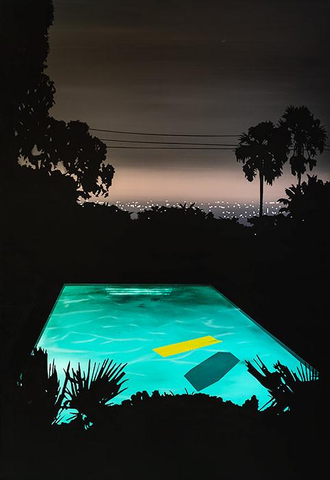 Laurence Jones, Pool with Yellow Float, 2019
