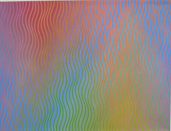 David Whitaker, Rise and Fall in Red Blue and Green, 2003