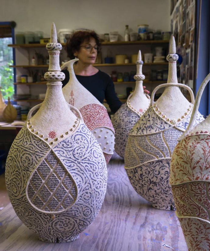 Avital Sheffer, Avital Sheffer in her studio