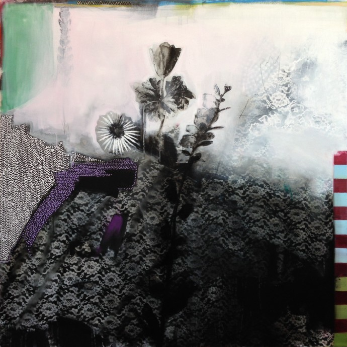 <div class=&#34;artist&#34;><strong>Emily Filler</strong></div><div class=&#34;title&#34;><em>Polka Dots And Lace</em>, 2015</div><div class=&#34;medium&#34;>mixed media on canvas</div><div class=&#34;dimensions&#34;>121.9 x 121.9 cm<br>48 x 48 in</div>