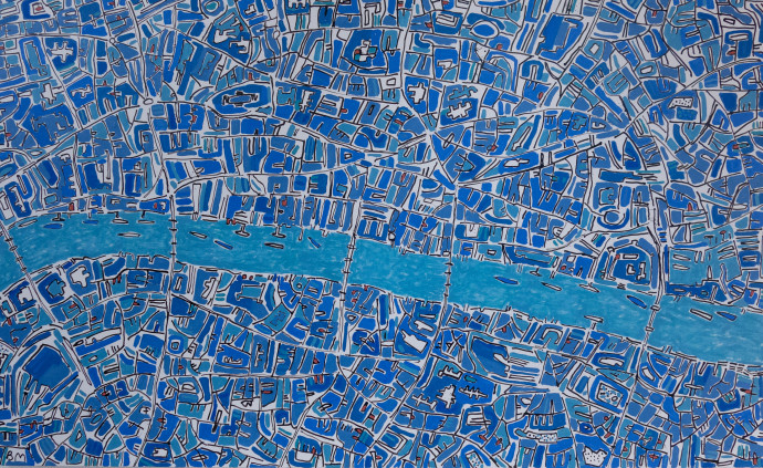 Barbara Macfarlane, London Cobalt Blues, 2019