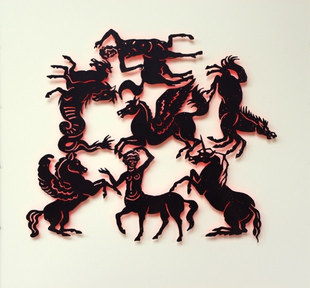 Susan Light, Mythical Horses (red)