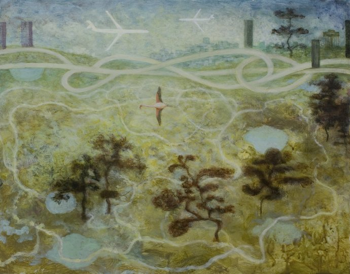 Alasdair Wallace, Landscape near a City, 2010