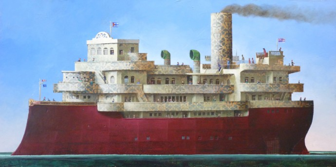 <div class=&#34;artist&#34;><strong>Sylvain Lefebvre</strong></div><div class=&#34;title&#34;><em>The Flower Boat</em>, 2016</div><div class=&#34;medium&#34;>mixed media</div><div class=&#34;dimensions&#34;>60 x 120 cm<br>23 5/8 x 47 1/4 in</div>