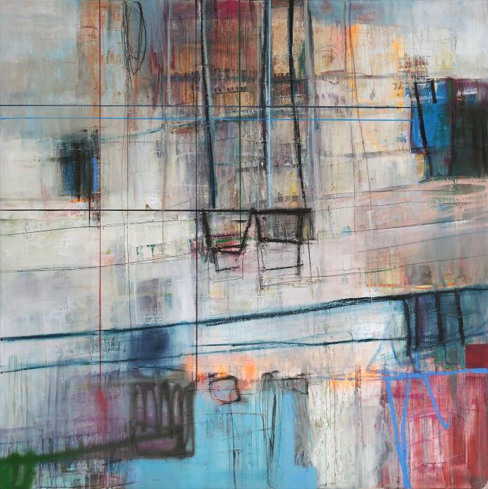 <div class=&#34;artist&#34;><strong>Morten Lassen</strong></div><div class=&#34;title&#34;><em>Integrated G</em>, 2017</div><div class=&#34;medium&#34;>oil and spray paint on linen </div><div class=&#34;dimensions&#34;>150 x 150 cm<br>59 x 59 in</div>