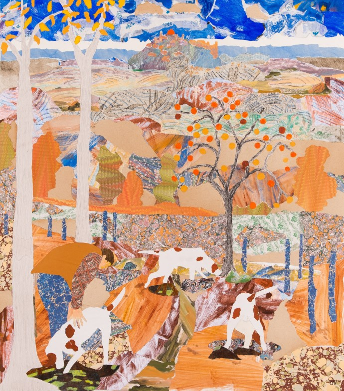 <div class=&#34;artist&#34;><strong>Dione Verulam</strong></div><div class=&#34;title&#34;><em>Searching For Truffles</em>, 2016</div><div class=&#34;medium&#34;>collage</div><div class=&#34;dimensions&#34;>81 x 92 cm<br>31 7/8 x 36 1/4 in</div>