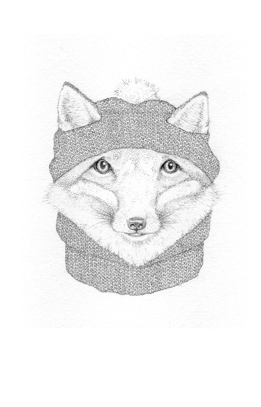 Jackie Case, Knitted Fox, 2015