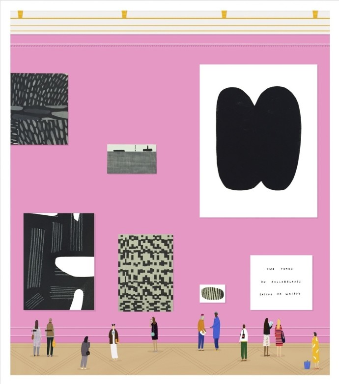 Rose Blake, Pink Wall, 2015