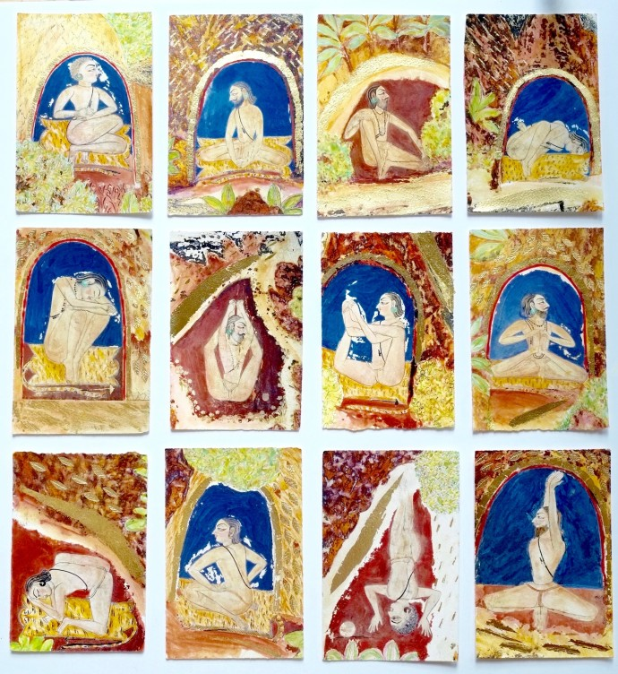<div class=&#34;artist&#34;><strong>Katherine Virgils</strong></div><div class=&#34;title&#34;><em>Yogi Miniatures</em>, 2016</div><div class=&#34;medium&#34;>mixed media with gold leaf</div><div class=&#34;dimensions&#34;>77 x 74 cm</div>