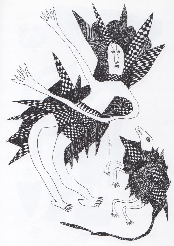 Mathias Kauage, Woman with a Wallaby, '70