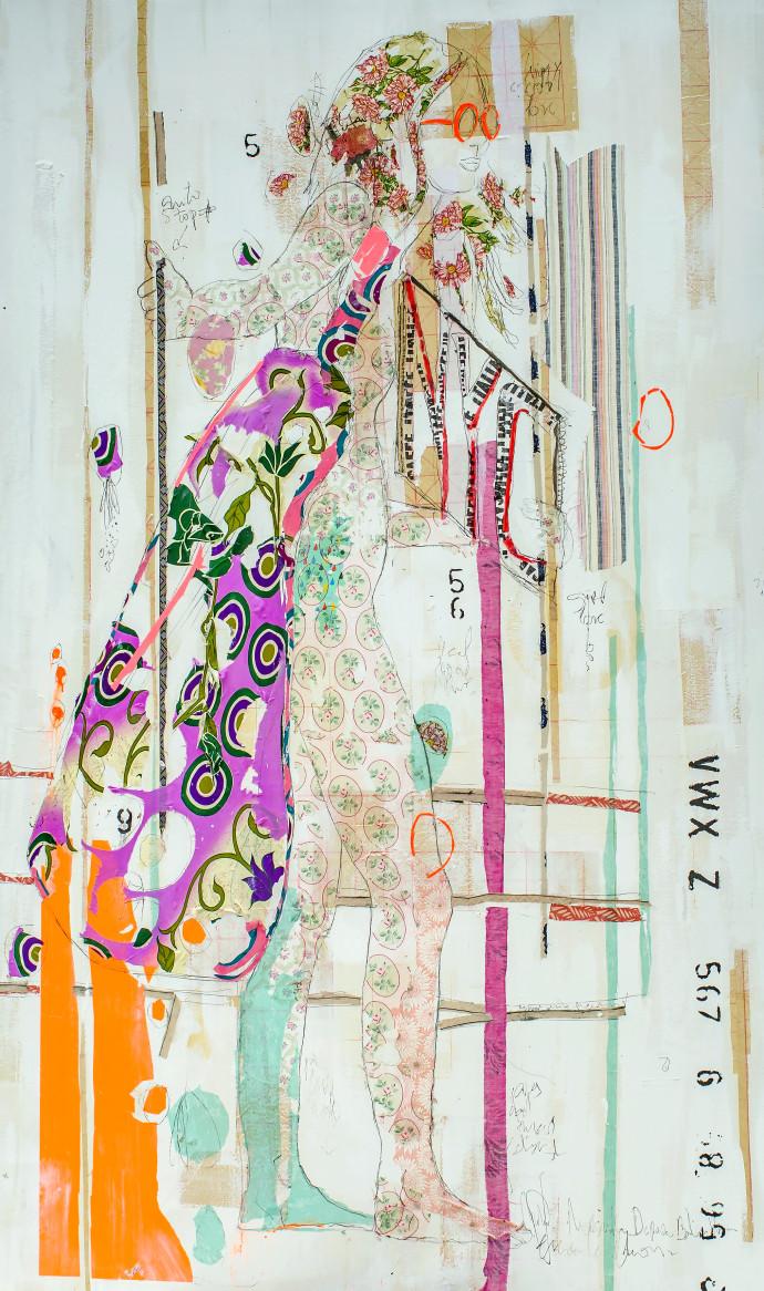 <div class=&#34;artist&#34;><strong>Mersuka Dopazo and Teresa Calder&#243;n</strong></div><div class=&#34;title&#34;><em>Nude</em>, 2017</div><div class=&#34;medium&#34;>paper, fabric and pigment on canvas</div><div class=&#34;dimensions&#34;>210 x 125 cm<br>82 5/8 x 49 1/4 in</div>