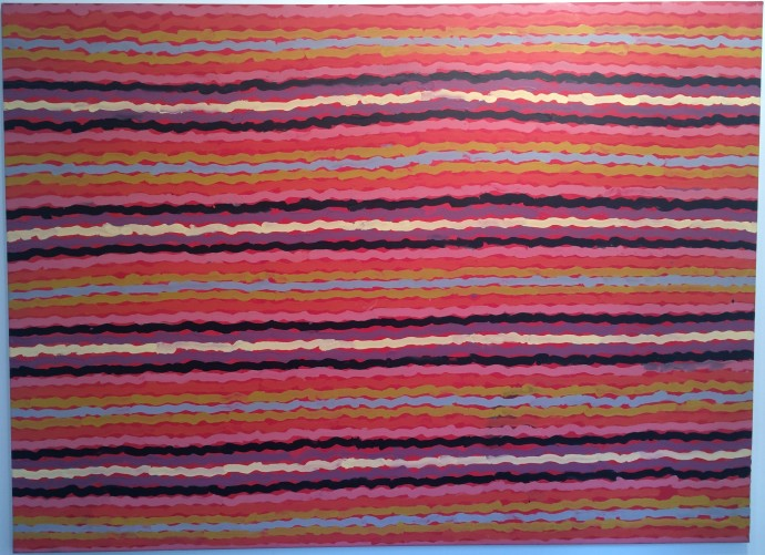 Clifford Possum Tjapaltjarri, Spear Dreaming - South of Naperby