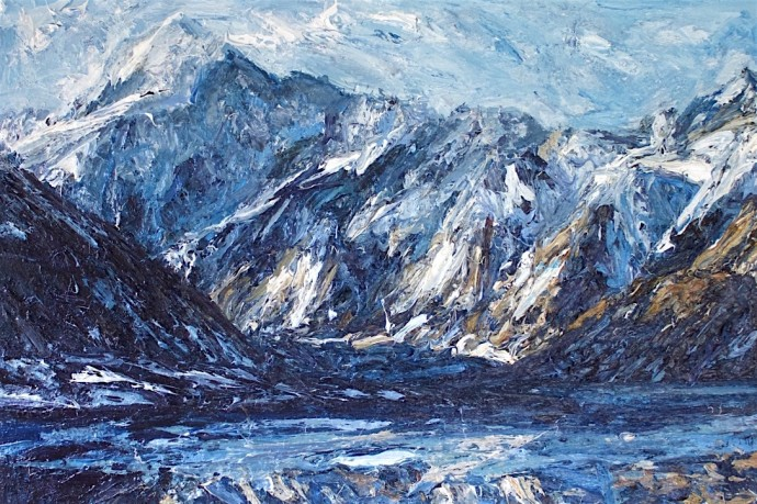 <div class=&#34;artist&#34;><strong>Holly Zandbergen</strong></div><div class=&#34;title&#34;><em>Aoraki, Mount Cook</em>, 2016</div><div class=&#34;medium&#34;>oil on canvas</div><div class=&#34;dimensions&#34;>100 x 150 cm<br>39 3/8 x 59 1/8 in</div>