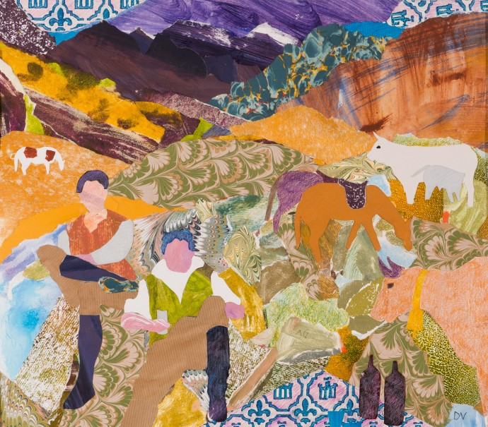 <div class=&#34;artist&#34;><strong>Dione Verulam</strong></div><div class=&#34;title&#34;><em>Picnic In The Pyrenees</em>, 2016</div><div class=&#34;medium&#34;>collage</div><div class=&#34;dimensions&#34;>41 x 46 cm<br>16 1/8 x 18 1/8 in</div>