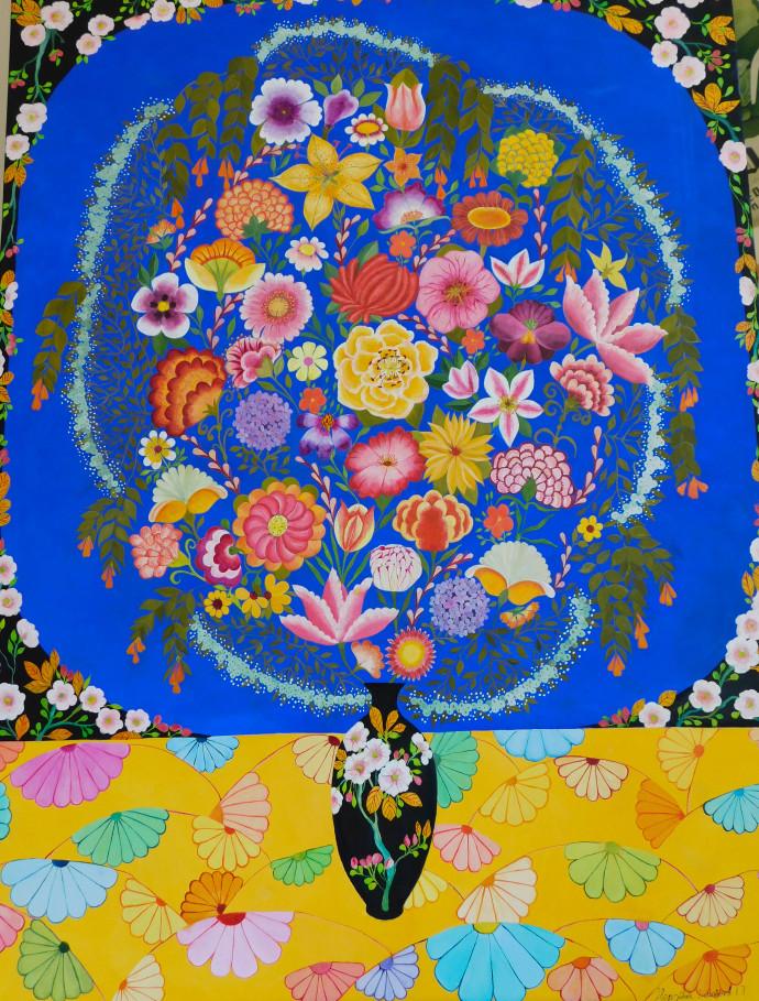 Hepzibah Swinford, Flowers With Fans, 2017