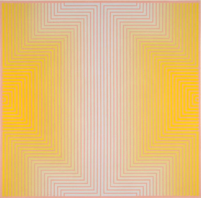 David Whitaker, Blue And Yellow On Red, 1968