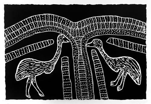 Jimmy Pike, Two Karnanganyja — Two Emus