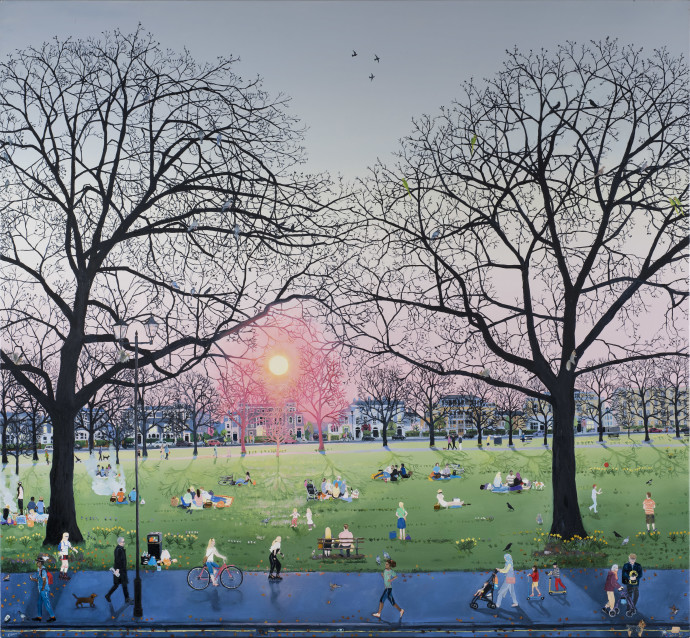 Emma Haworth, Sunset in Park, 2017