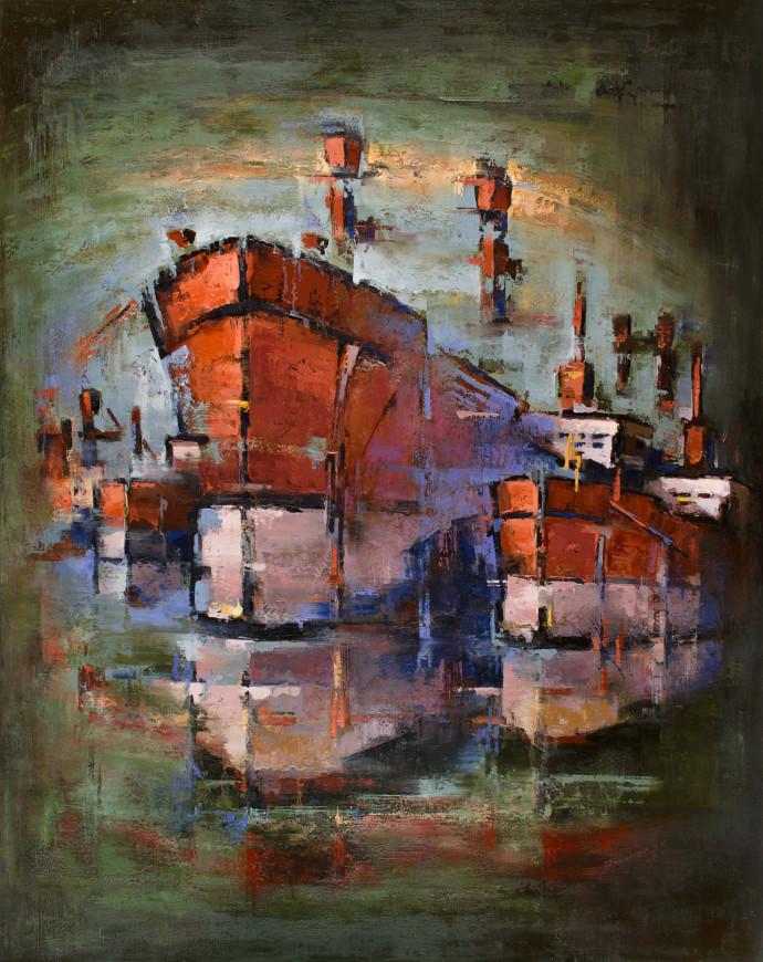 <div class=&#34;artist&#34;><strong>Tilemachos Kyriazatis</strong></div><div class=&#34;title&#34;><em>Minos</em>, 2017</div><div class=&#34;medium&#34;>oil on canvas</div><div class=&#34;dimensions&#34;>150 x 120 cm<br>59 1/8 x 47 1/4 in</div>