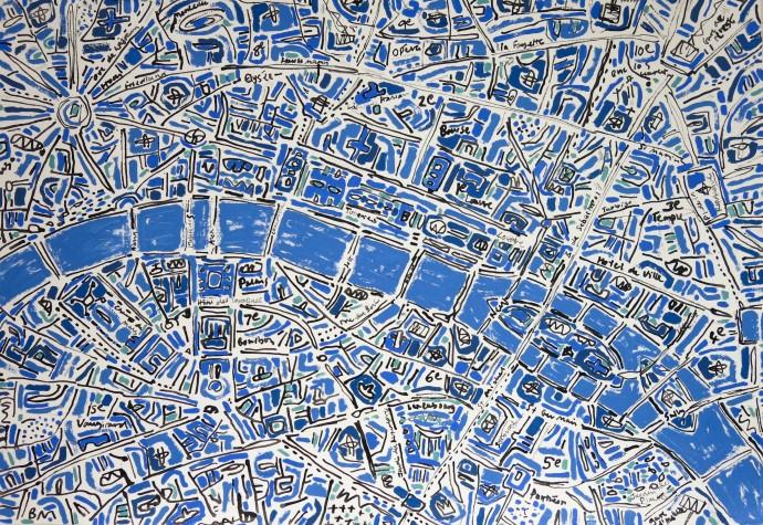 Barbara Macfarlane, Paris Cobalt Blue, 2017