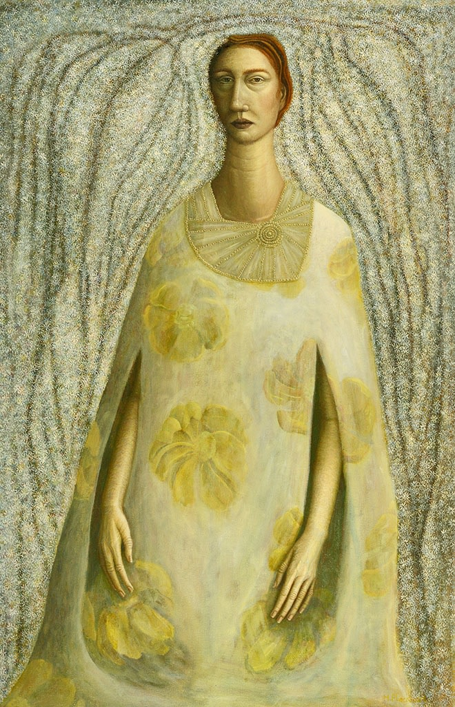 Helen Flockhart, Yellow Flowered Dress, 2014