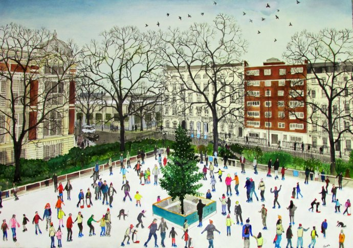 Emma Haworth, Ice Skaters, 2013