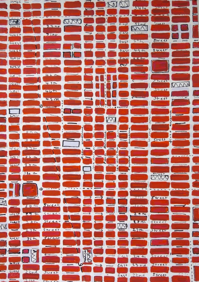 Barbara Macfarlane, Red Midtown, 2016