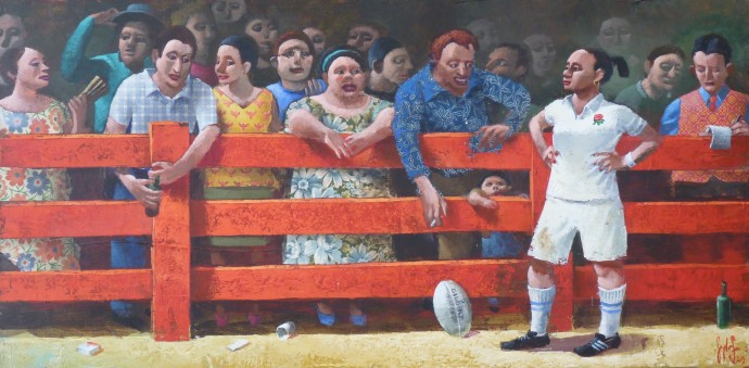 <div class=&#34;artist&#34;><strong>Sylvain Lefebvre</strong></div><div class=&#34;title&#34;><em>Sunday Rugby Match</em>, 2016</div><div class=&#34;medium&#34;>mixed media</div><div class=&#34;dimensions&#34;>40 x 80 cm<br>15 3/4 x 31 1/2 in</div>