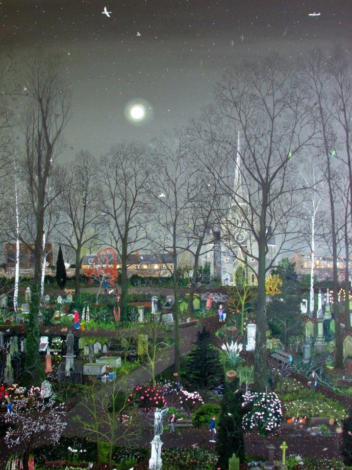 Emma Haworth, Abney Park by Moonlight, 2014