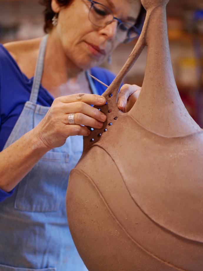 Avital Sheffer, Avital in her studio