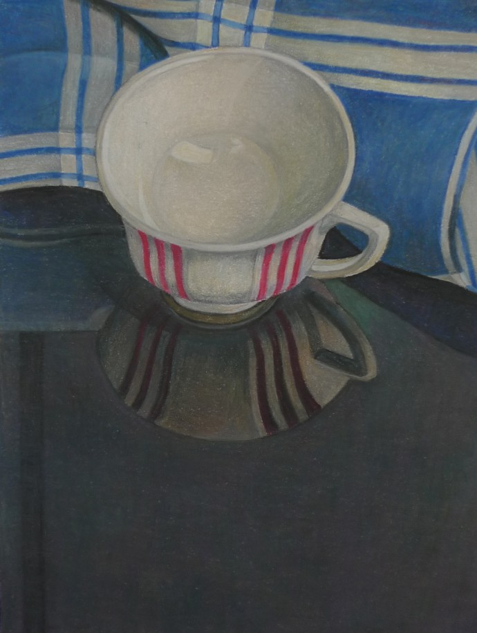 Aaron Kasmin, Striped Cup, 2015