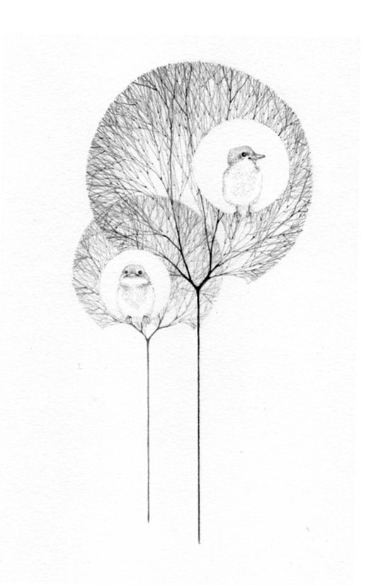 Jackie Case, Two Birds Two Trees, 2016