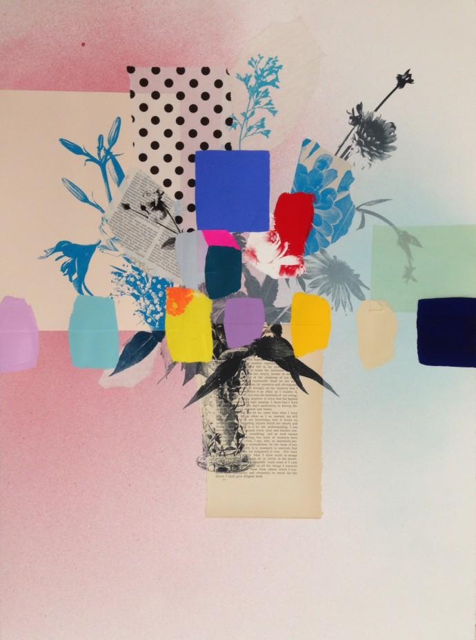 Emily Filler, Paper Bouquet (dots + Descartes), 2017