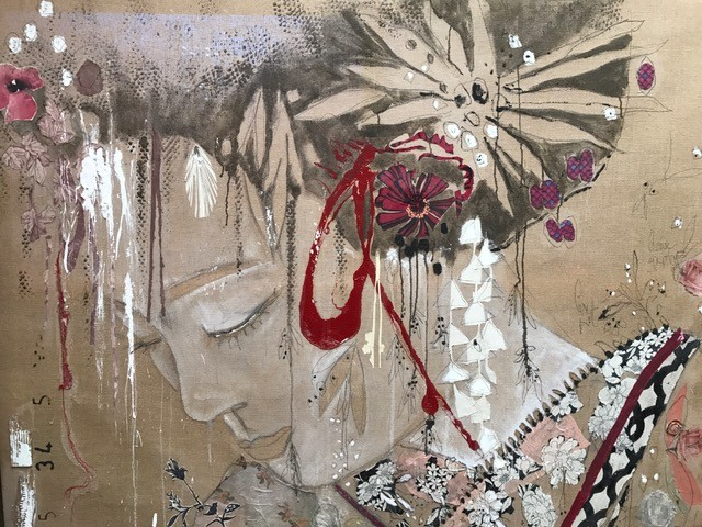 <div class=&#34;artist&#34;><strong>Mersuka Dopazo and Teresa Calder&#243;n</strong></div><div class=&#34;title&#34;><em>Geisha</em>, 2016</div><div class=&#34;medium&#34;>paper and pigment on canvas</div><div class=&#34;dimensions&#34;>157 x 198 cm<br>61 3/4 x 78 in</div>