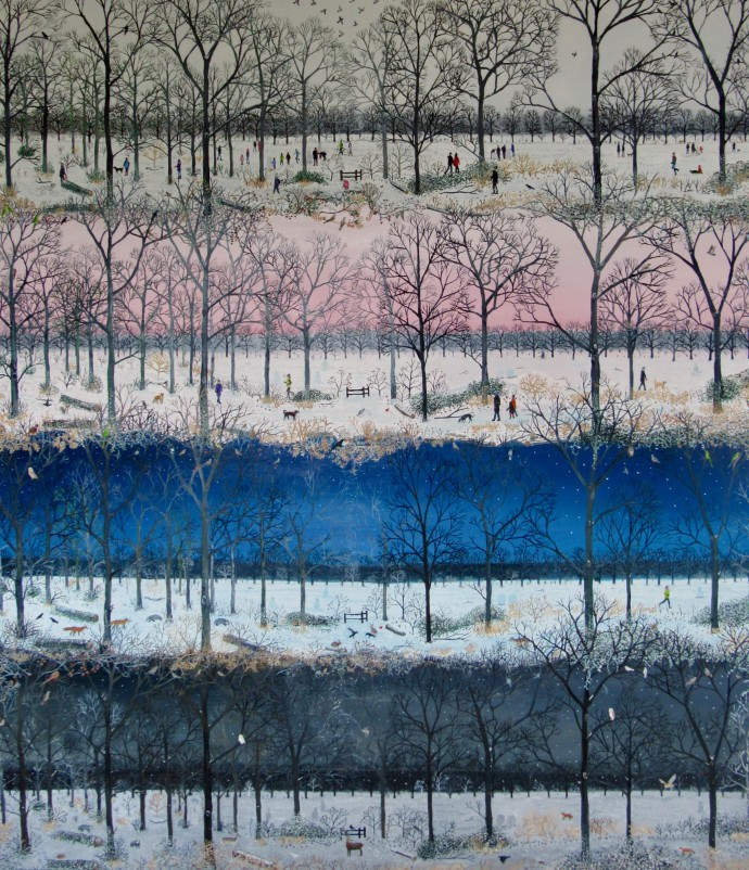 Emma Haworth, As Nighttime Falls In The Woods, 2017