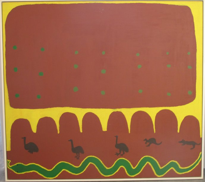 Long Tom Tjpanangka, Ayers Rock and Irantji, 1995