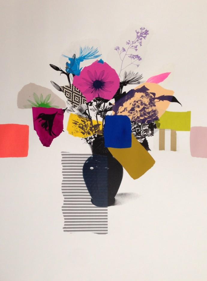 Emily Filler, Paper Bouquet (pink flower) , 2017