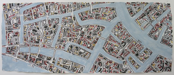 <span class=&#34;title_and_year&#34;><em>Lombardo Gold Venice</em>, 2015<span class=&#34;title_and_year_comma&#34;>, </span></span><span class=&#34;medium&#34;>oil and ink on handmade paper<span class=&#34;medium_comma&#34;>, </span></span><span class=&#34;dimensions&#34;>80 x 200 cm<br/>31 1/2 x 78 3/4 in</span>