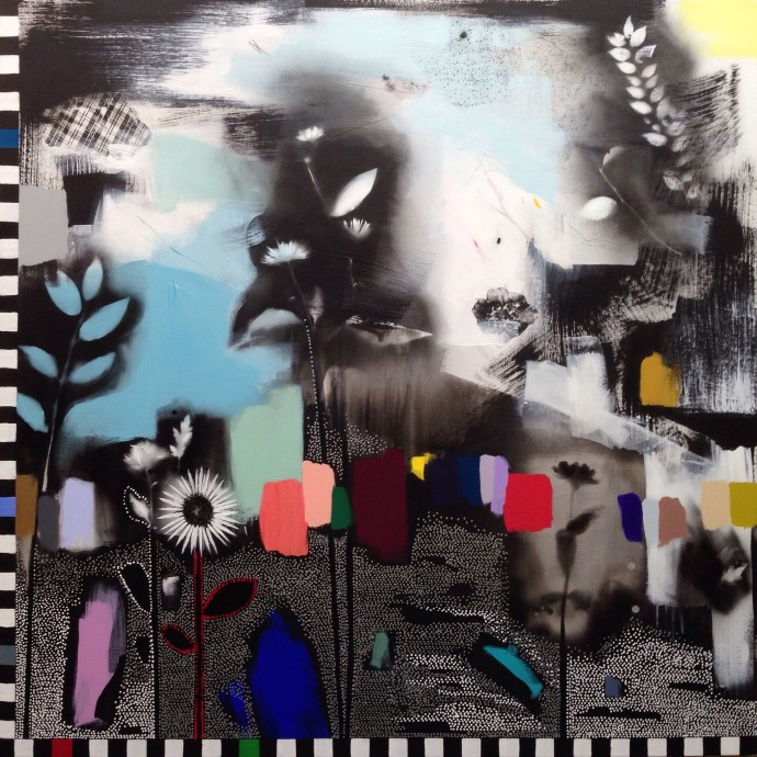 <div class=&#34;artist&#34;><strong>Emily Filler</strong></div><div class=&#34;title&#34;><em>Dreamscape (wildflowers) II</em>, 2016</div><div class=&#34;medium&#34;>mixed media on canvas</div><div class=&#34;dimensions&#34;>152 x 152 cm<br>59 7/8 x 59 7/8 in</div>