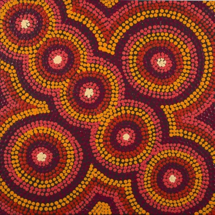 Violet Napurrurla Malbunka, Warlukurlangu Jukurrpa (Fire Country Dreaming), 2016