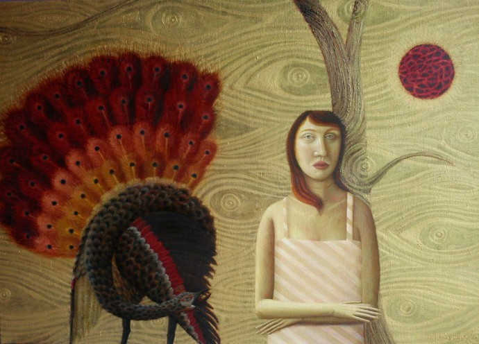 Helen Flockhart, Eyes and the Peacock, 2015