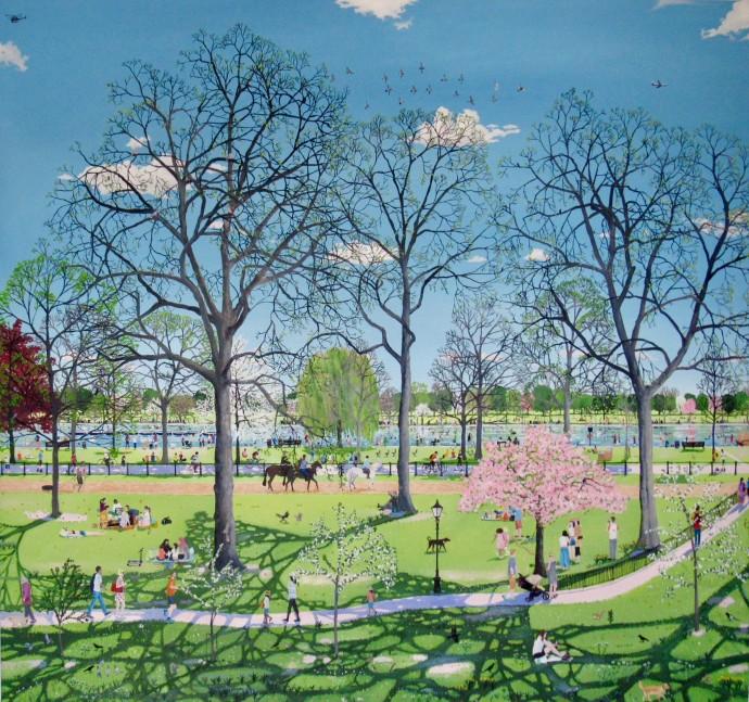 Emma Haworth, Springtime in the Park, 2018