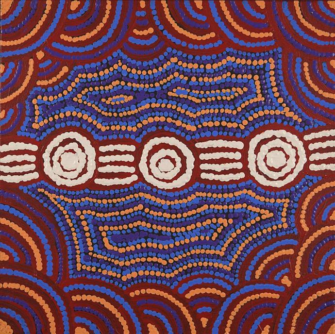 Jamie Lee Nampijinpa Brown, Ngapa Jukurrpa (Water Dreaming) - Mikanji, 2016