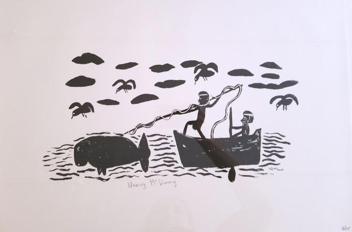 Nancy Mcdinny, Untitled (Harpooning Whale)