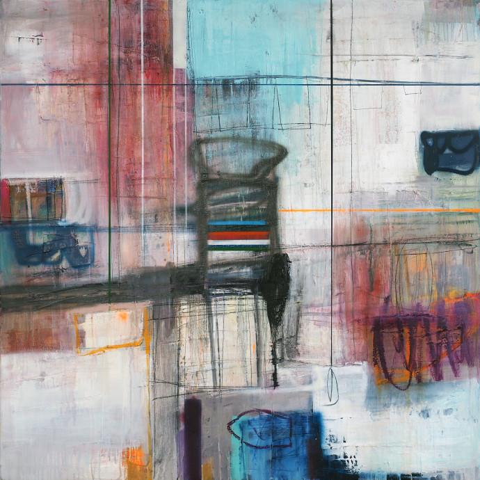 <div class=&#34;artist&#34;><strong>Morten Lassen</strong></div><div class=&#34;title&#34;><em>Integrated J</em>, 2017</div><div class=&#34;medium&#34;>oil and spray paint on linen </div><div class=&#34;dimensions&#34;>120 x 120 cm<br>47 x 47 in</div>