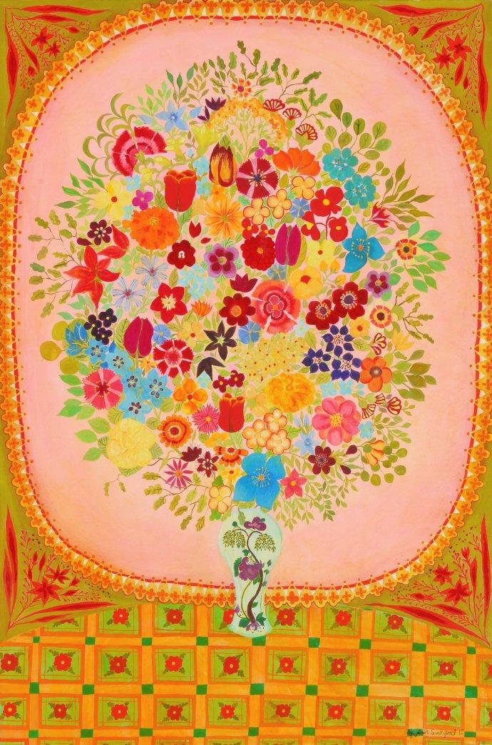 Hepzibah Swinford, Pink Flowers, 2012
